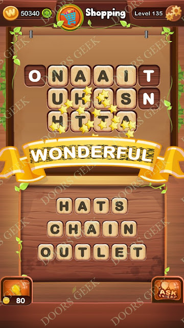 Word Bright Level 135 Answers, Cheats, Solutions, Walkthrough for android, iphone, ipad and ipod
