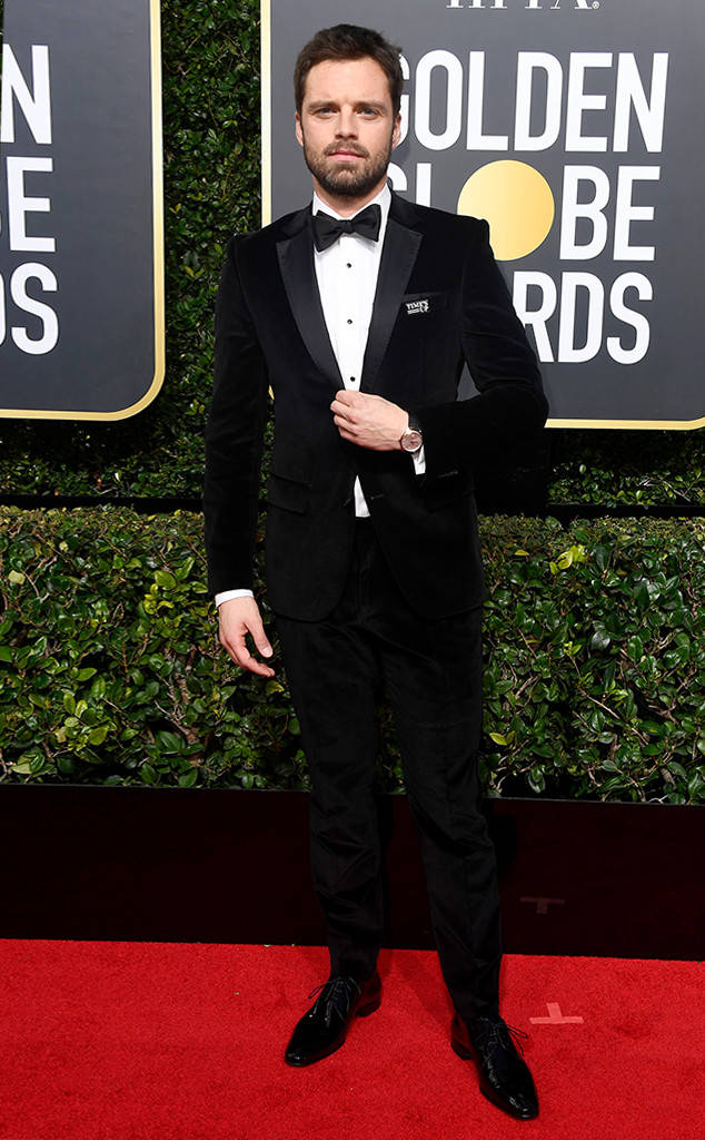 Golden Globes 2018, Red Carpet, Alfombra Roja, Tuxedos, Trajes, Ternos, Hombres, Looks, Outfits, Premiación, Masculinos, Estilismos, Vestir bien, Sebastian Stan