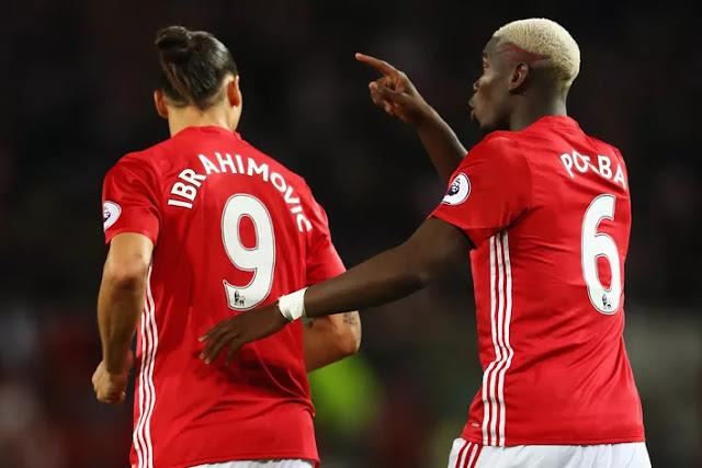 Zlatan Ibrahimovic, Paul Pogba, Manchester United 2-0 Southampton, August 2016