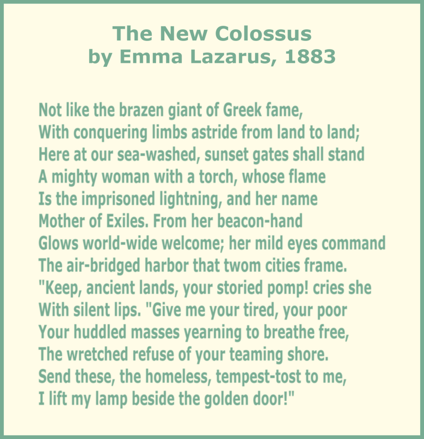 Randomly Reading Poetry Friday The New Colossus By Emma