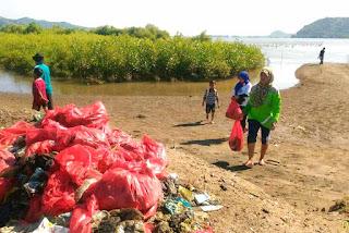 Aksi bersih pantai tumbuhkan mangrove