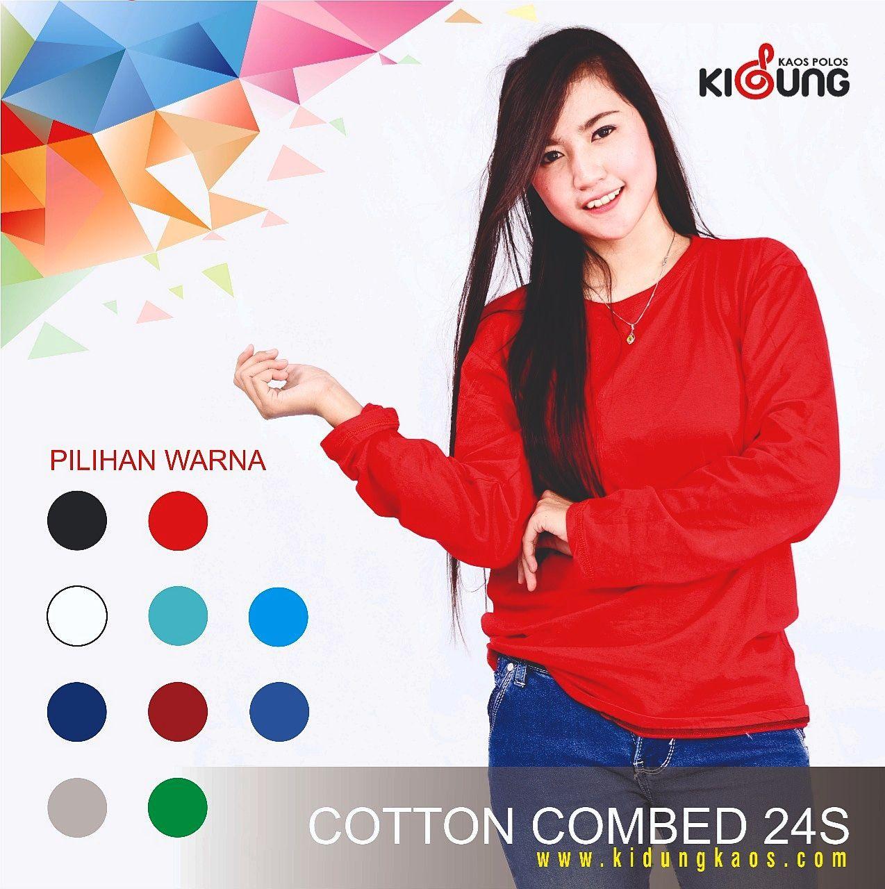 Kaos Polos Cotton Combed 24s