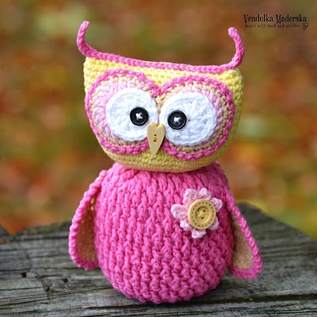 Crochet owl pattern by Vendula Maderska