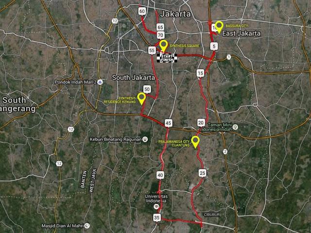 Event Sepeda Jakarta - rutenya Synthesis Merdeka Ride