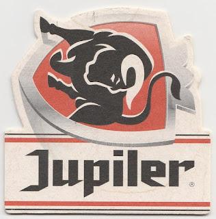 sous-bock de la bière belge Jupiler