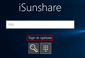 login windows 10 with administrator sign-in options