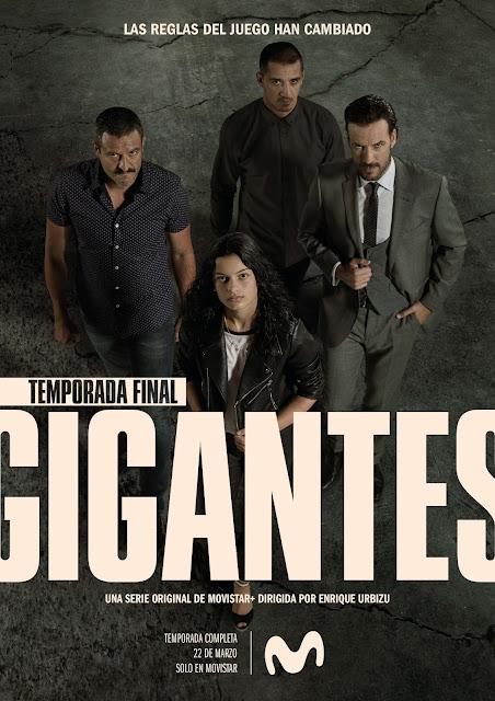 Gigantes,Daniel Grao, Isak Férriz, Carlos Librado 'Nene', segunda temporada, Movistar, póster
