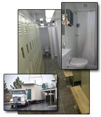 Modular bathroom and shower trailer