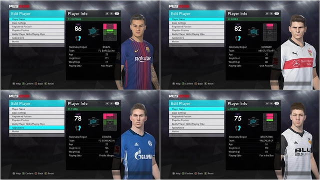 PES 2018 Option File Winter Transfers 2018 PTE 3.0 Patch