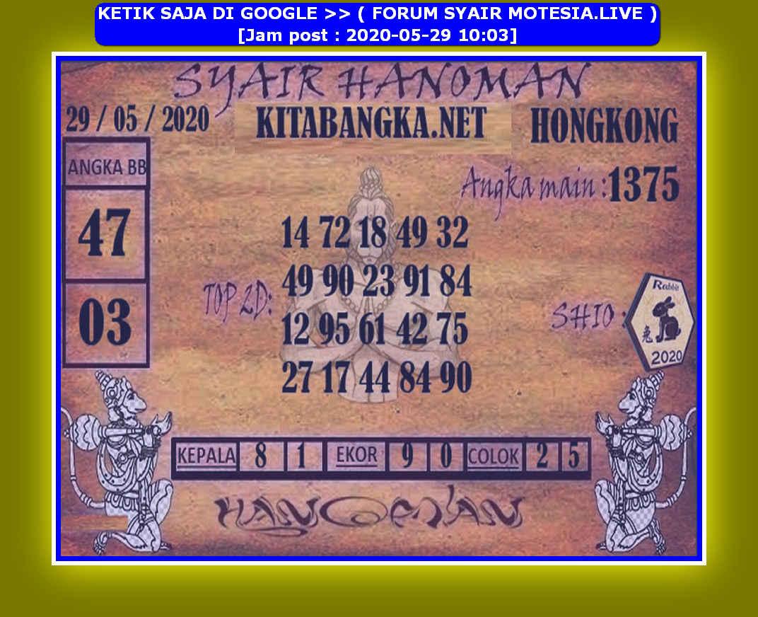 Kode syair Hongkong Jumat 29 Mei 2020 94