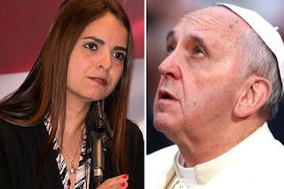 Tamara Suju le reclamó al Papa comunista por ordenar alejar a la oposición boliviana de su actos