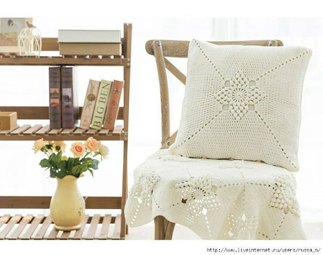 Patrón #1811: Hermoso Cojín a Crochet