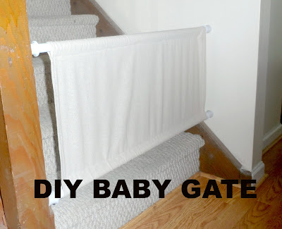 Diy Fabric Baby Gate For Stairs