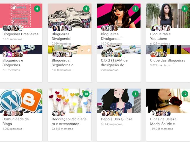 Divulgação Google + blogs e youtube