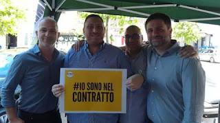Da destra: Luigi Nave, Andrea Caso, Vincenzo Perfetto e Carmine Sgariglia
