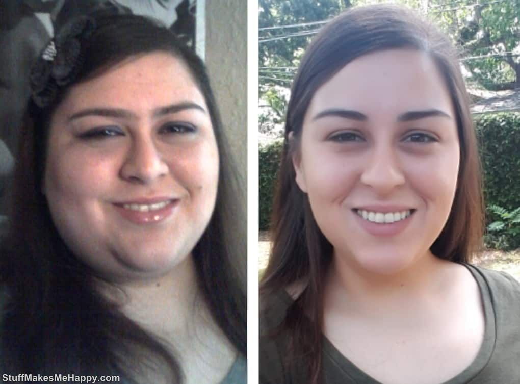 11. This is how the discarded 45 kilograms changed my face