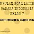 Bahasa Indonesia Kelas 7 - Soal Latihan Perbedaan Surat Resmi dengan Surat Pribadi