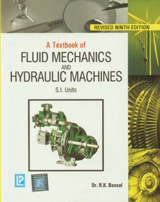 textbook of fluid mechanics by rk bansal