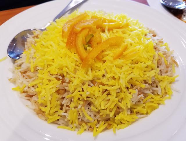 Afghan Salang Restaurant, Dandenong, orange palow