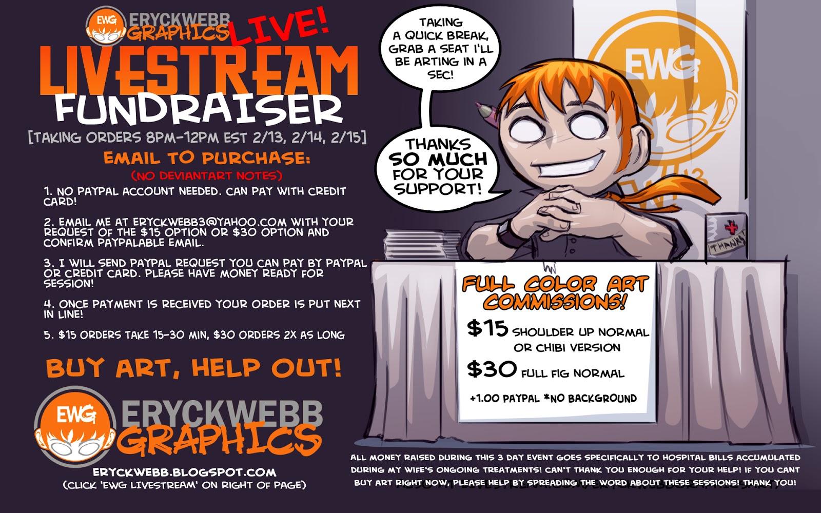 EWG Fundraiser Event Part Deuce | EryckWebbGraphics