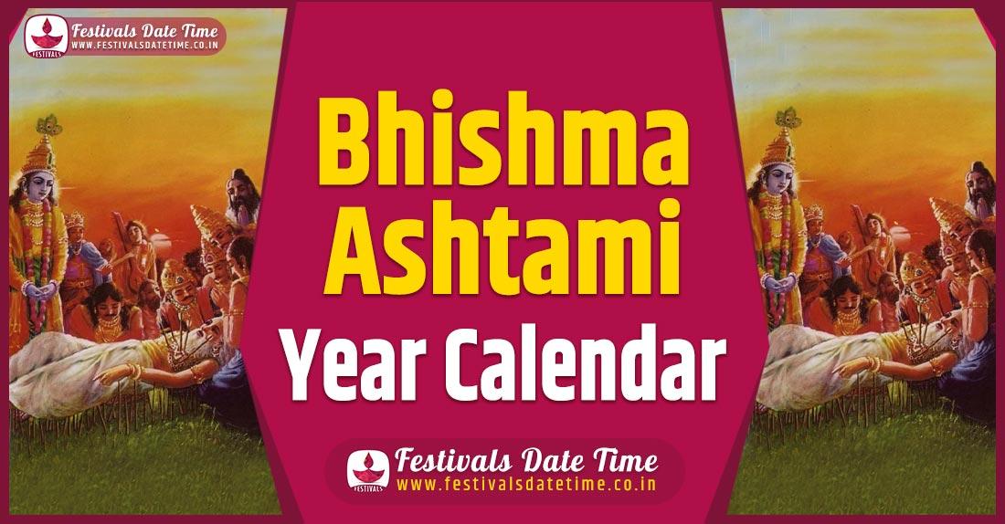 Bhishma Ashtami Year Calendar, Bhishma Ashtami Pooja Schedule