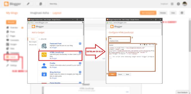 Cara Menambahkan Widget Secara Manual di Blogger