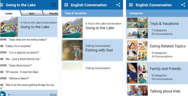 تطبيق تدرب على المحادثة بالإنجليزية لتحسن المحادثة في اللغة الإنجليزية للأندرويد