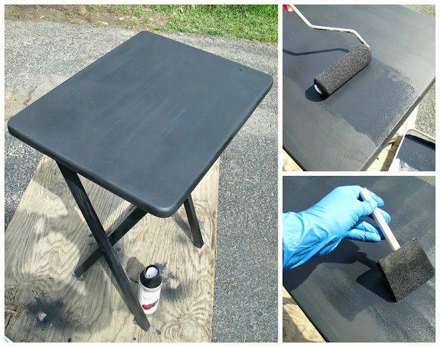 Down To Earth Style Paint Amp Monogram A Tv Tray