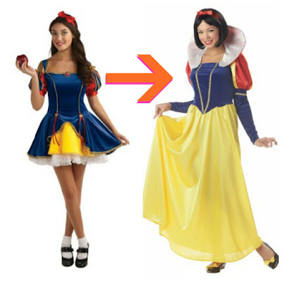 nonsexy snow white haloween costume