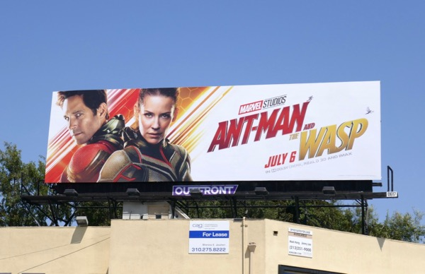 Ant-Man and Wasp movie billboard
