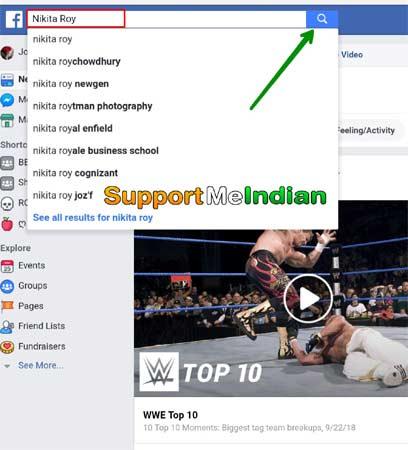 Facebook par ladki search kare