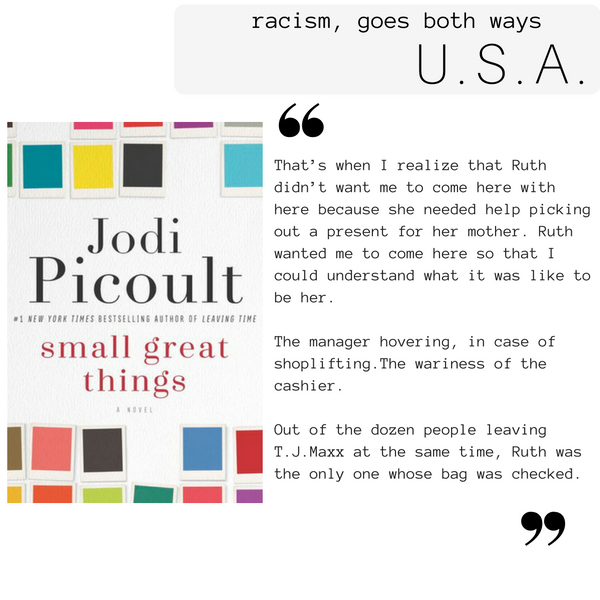 Review of Jodi Picoult's Small Great Things: Racism goes both ways {Globetrotting with Books}
