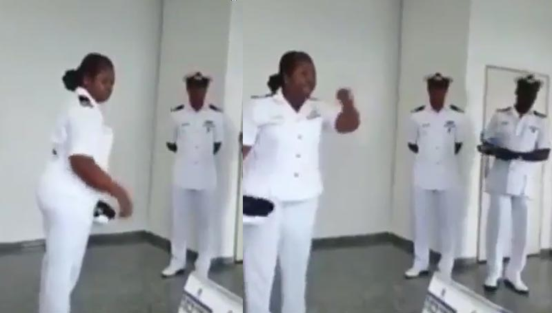 Video: Nigerian Navy woman rejects punishment, tells her superiors to go to hell