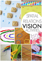 Visual Spatial Relations activities for handwriting