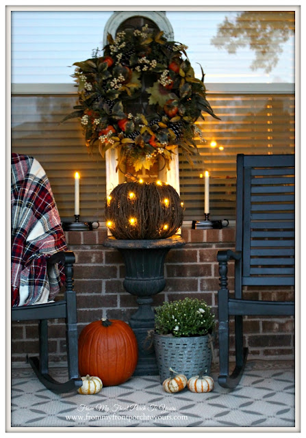 Fall Porch-Balsam Hill-Miracle Flame Candles-From My Front Porch To Yours