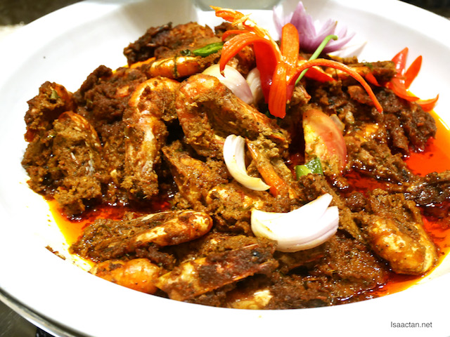 Spicy Tiger Prawn Rendang