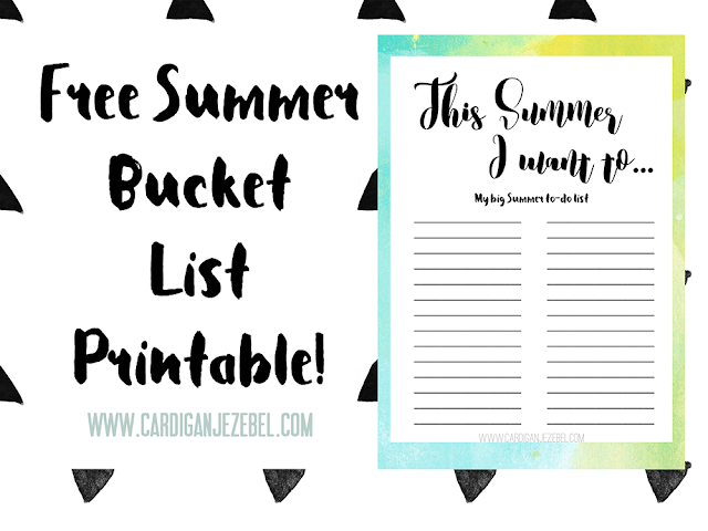 My Summer To-Do List    Free Printable