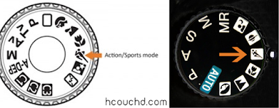 وضعية التصوير الرياضي (Sports Mode):