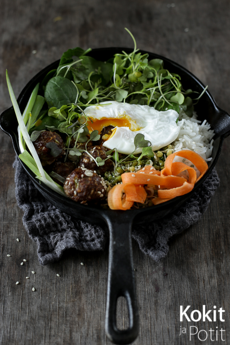 Bibimbap – korealainen pyttipannu | Korean Bibimbap #koreanfood #bibimbap
