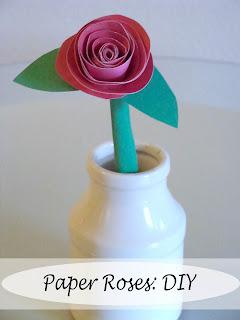 make easy paper roses diy