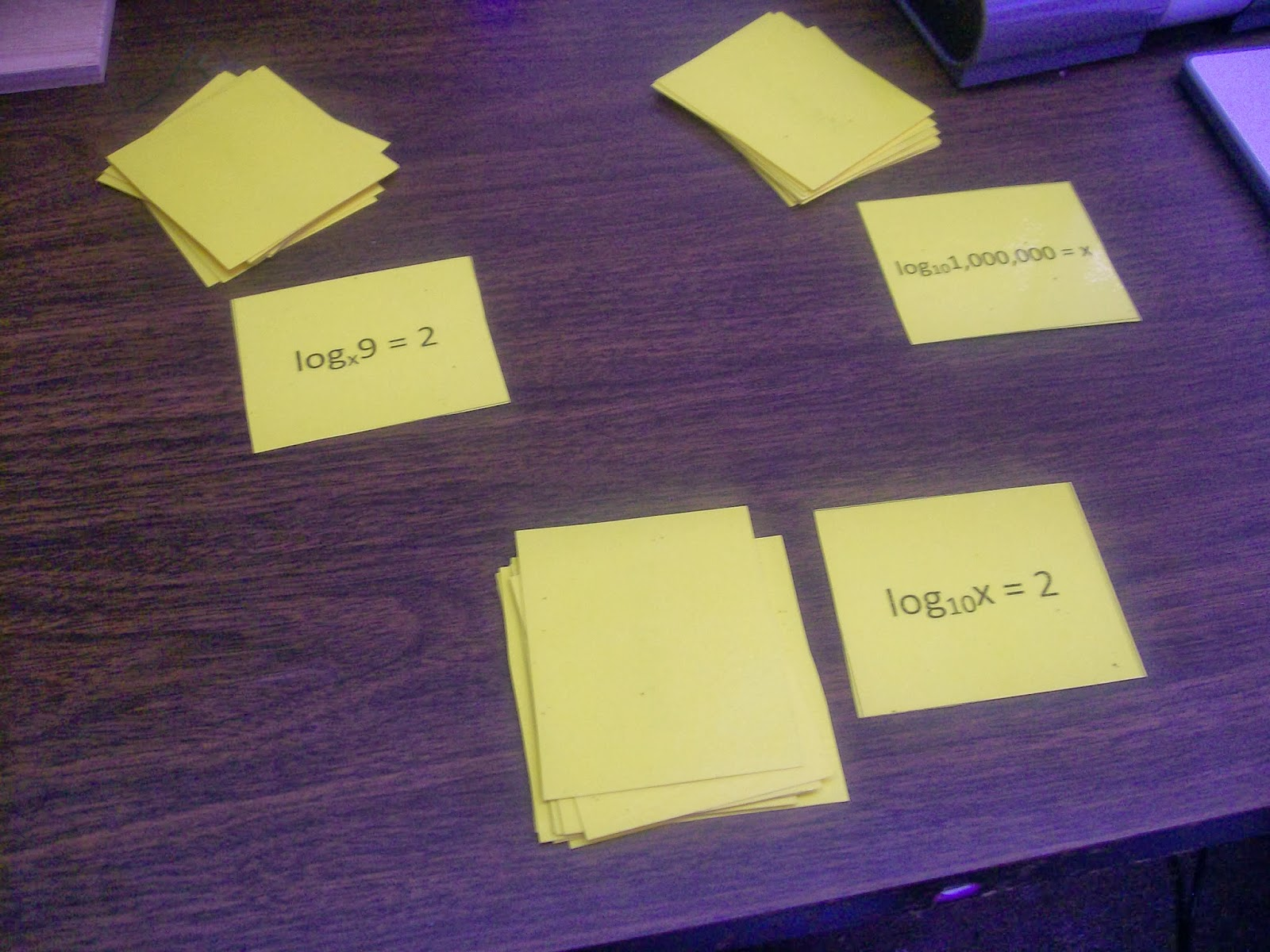 math = love introducing logarithms with foldables war bingo
