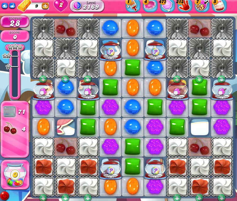 Candy Crush Saga level 2169