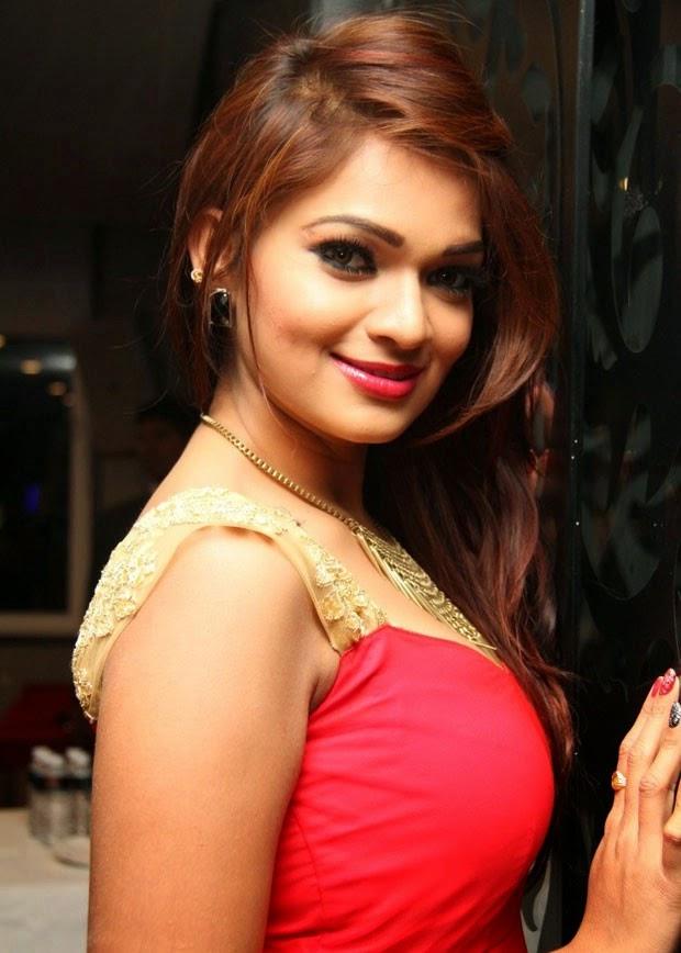 Hot Telugu Actress Ashwini Latest Red Dress Photos, Actress Ashwini Latest Stills