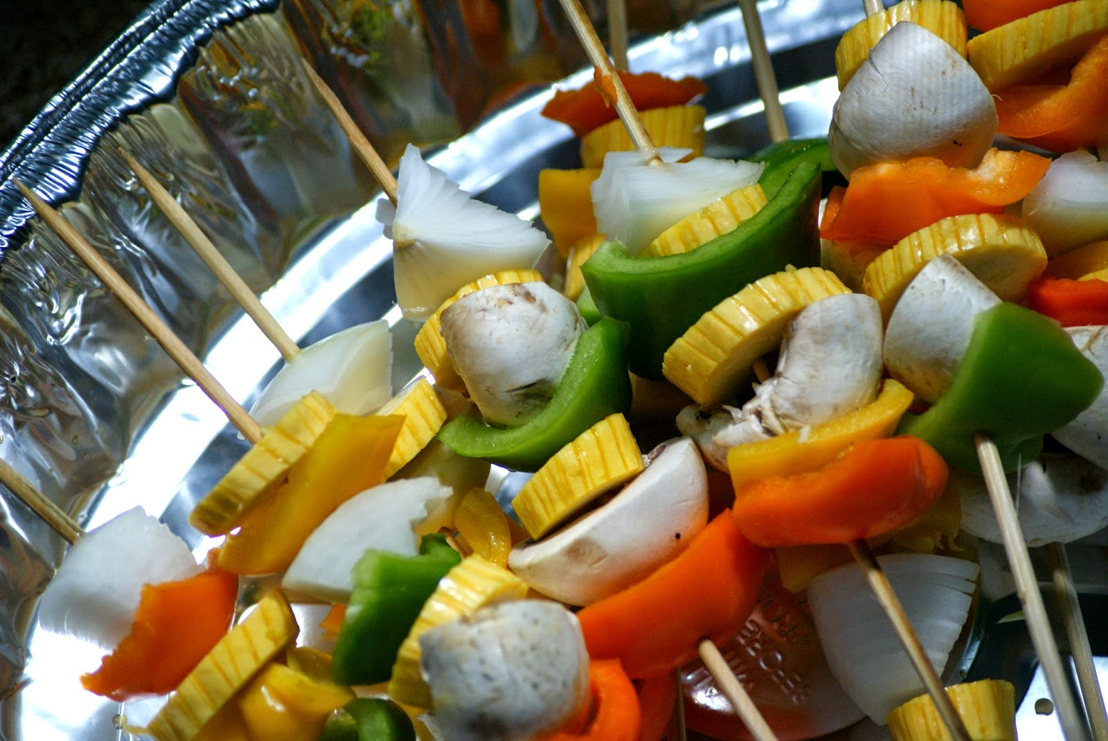 Healthy Fourth of July Menu - Vegetable Kabobs