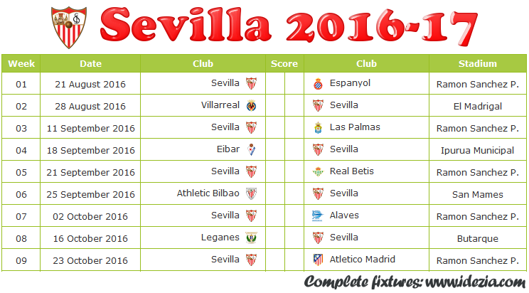 Download Jadwal Sevilla FC 2016-2017 File JPG - Download Kalender Lengkap Pertandingan Sevilla FC 2016-2017 File JPG - Download Sevilla FC Schedule Full Fixture File JPG - Schedule with Score Coloumn