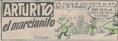 Primera viñeta de Arturito el Marcianito, Tio Vivo 2ª nº 183
