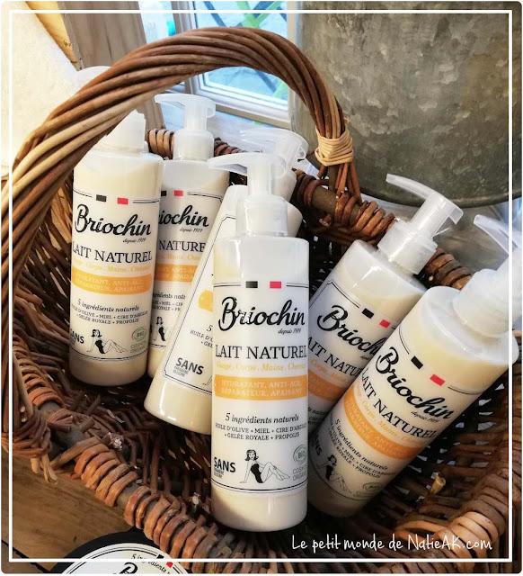 lait naturel pour le corps de fabrication française de Briochin