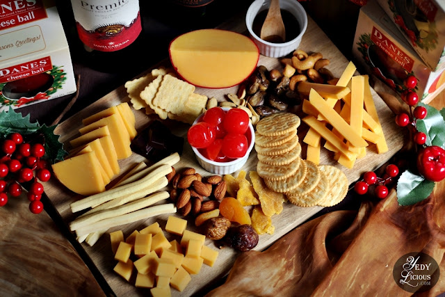 Create Your Own Cheese Board with Danes Cheese Ball: A New and Fun Christmas Family Tradition, Easy Cheese Board Platter Recipe, How To Make An Easy and Simple Cheese Board Platter with Danes Cheese Ball, Cheese Board Recipe, Cheese and Wine Pairing, Best Top Food Blog in Manila Philippines YedyLicious Manila Food Blog, Yedy Calaguas Food Stylist Food Blogger Food Photographer in Manila Philippines
