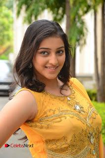 Mouryani Pictures in Yellow Long Dress at Ardhanaari Teaser Launch ~ Celebs Next
