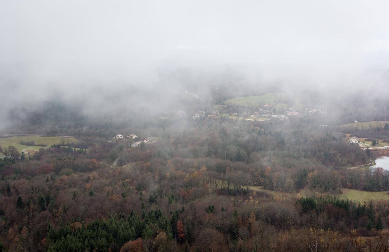 paysage, parc, Jura, automne, rando, pic, aigle, belvédère